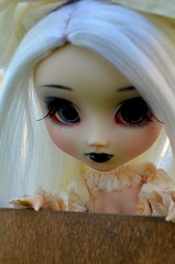 Smitten by Symphony (PaigeInReaLife) Tags: white bed goth wig pullip symphony poisongirl pullipdoll heydollface stica fullcustom realisticeyechips bloodyredhoodstock