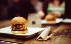 Umami Burger (isayx3) Tags: wood food 50mm losangeles cafe nikon dof bokeh f14 santamonica burger manly rustic resturant nikkor tones d3 umami outoors 14g plainjoe isayx3 edwardmcgowan