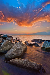Halibut Point Sunset (chris lazzery) Tags: sunset seascape massachusetts rockport halibutpointstatepark canonef14mmf28lii 5dmarkii