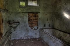 Lonely Bath Tub (N.Boersma) Tags: house building abandoned window wall canon dark bathroom bath floor sink room gritty basin clean dirt tub 5d bathtub shack wreck hdr 5dmii