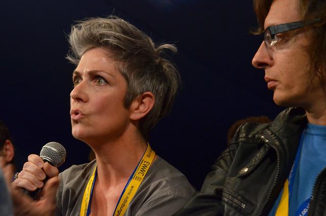Denise Mina at the Edinburgh World Writers' Conference c Pascal Saez
