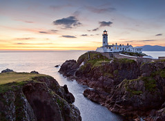 Fanad Lighthouse #1 (Ian Humes) Tags: ireland sea summer lighthouse water landscape geotagged dawn rocks cliffs coastal tidal donegal countydonegal cccl commissionersofirishlights canon5dmkii fanadlighthouse