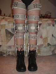 Boots and Taupe Braces From the Front (KAFOmaker) Tags: sexy leather metal fetish high shoes highheels braces boots sandals bondage heels cuff buckle brace sandal cuffs buckles restraints bracing restraint orthopedics kafo orthopedic cuffed braced buckled orthotics orthotic bootsandbraces