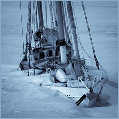 No Sailing Today (Salmando) Tags: winter sea sailboat boat sailing yacht sony a200 jyrki kotka onice salmi