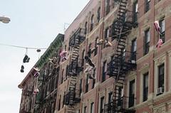 Olek Throws (JoelZimmer) Tags: newyork manhattan lowereastside 50mmf14 streetartgraffiti olek nikond7000