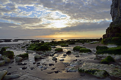 SUNRISE OVER BOTANY BAY   (120) (DESPITE STRAIGHT LINES) Tags: uk morning sea england sky cliff cloud sunlight seaweed beach wet water silhouette rock clouds sunrise dawn bay coast boat chalk kent seaside am sand nikon rocks waves ship cloudy sandy tide shoreline silhouettes sigma wave vessel cliffs coastal shore coastline rays sunrays botanybay tidal windfarm goldenhour turbines rayoflight firstlight broadstairs windturbines moored sigma1020mm thegoldenhour botanybaykent nikon1424mm d7000 nikon18105mmvr nikongp1 botanybaybroadstairs nikond7000 offshorepower sunriseoverbotanybay botanybayuk