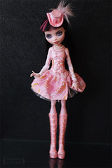 "Outfit ""Pink happens"" for Monster High (Trotilla) Tags: pink hat dress handmade daniella 2012 201208 draculaura formonsterhigh ooakbyjewel namedpinkhappens"