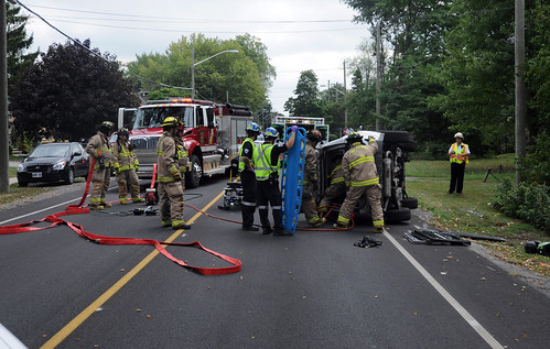 Rollover in Port Colborne 2