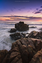 Labruge (Filipe Oliveira (FAAO)) Tags: sunset sea seascape praia beach rocks prdosol sampaio viladoconde rochas labruge hitech06 lightcraftworkshop nd2x256xmkii