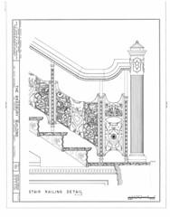 Bradbury Building: Stair Railing Detail (jjldickinson) Tags: detail architecture losangeles downtown drawing stairway landing staircase libraryofcongress bradburybuilding railing nationalparkservice newel historicamericanbuildingssurvey georgehwyman officeofarcheologyhistoricpreservation