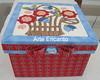 Caixa em tecido - Patchwork embutido (ARTE ENCANTO - III) Tags: flores flower box flor caixa sem porta carton patch patchwork em biju mousse agulha tecido bijouteria embutido