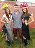 Jess Langan, Cian Healy and Holly Carpenter at Casa Bacardi at Electric Picnic