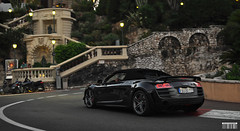 R8 GT Spyder (Willem Rodenburg) Tags: summer black cars beautiful photoshop 35mm grey hotel spider nice nikon wheels spyder montecarlo monaco special mm audi 35 limited rare fairmont v10 willem 2012 supercars r8 d90 cs6 rodenburg hypercars hairpain