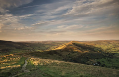 From Mam Tor to Lose Hill (Vemsteroo) Tags: road light sunset summer motion green canon landscape freedom evening countryside derbyshire peakdistrict scenic junction hills adventure direction journey 5d british balance winding peaks lush exploration f4 connection onthemove mamtor mkiii mk3 beautyinnature 24105mm ndgrad thewayforward leefilters