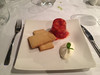 Strawberry & champagne Jelly crème fraiche and lemon shortbread (Bookatable) Tags: london restaurant 11 cadogangardens