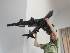 Swoosh! (Mad physicist) Tags: lego military bomber usaf b52 swoosh stratofortress