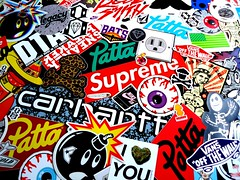 Stickers Collection (Sneaker Freak) Tags: obey diamond bbc vans sb carhartt supreme mishka hundreds dta rebel8 patta famousnike