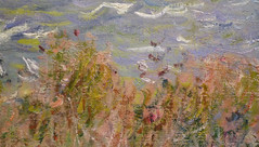 Monet, Cliff Walk at Pourville, with detail of wildflowers