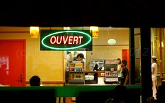 Ouvert. (MaranzaMax) Tags: street travel night canon viaggio notte maranzamax 5dmkii