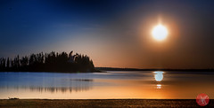 June sunset at Elk Island (Kasia Sokulska (KasiaBasic)) Tags: sunset sky sun lake canada landscape island nationalpark alberta elkisland astotin