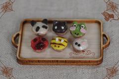 animal cupcakes x6 (asuka sakumo) Tags: cute bread miniature handmade oneinchscale asukasakumo