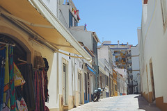 Lagos Street (Andrei SE) Tags: street travel portugal bike shop store nikon quiet lagos clothes algarve d700