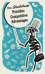 Doc. Steelstrap (Unkee E.) Tags: illustration vintage print logo typography corporate graphicdesign coverart books retro fortune mascot 1940s 1950s 50s bookcover doc bookcovers bookjacket crosssection 40s fortunemagazine vintagebookcovers bookcoverillustration steelstrap docsteelstrap