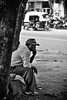 337/365. Deep In Thought. (Anant N S) Tags: portrait india monochrome photography 50mm blackwhite dof candid streetphotography deepinthought pune aundh project365 portraitofastranger lensor anantns thelensor anantnathsharma