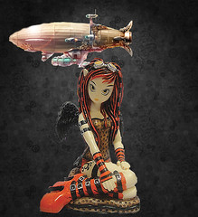 myka_jelina_steampunk (gothictwilight) Tags: crimson gothic fairy gift figurine steampunk myka jelina