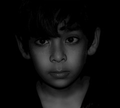 My dear son - Ali (aleemsm) Tags: bw home son ali 85mm18 8yrs