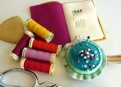 (jantze tullett) Tags: chalk pin sewing pins pincushion cushion tailors