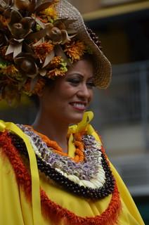 Aloha Festivals Floral Parade: paʻu rider (a0002678)