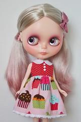 Cupcake blythe doll dress