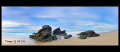 Redhead-Rocks-Panoramic {Explored Front Page} (Kiall Frost) Tags: ocean longexposure sky panorama color beach water clouds sunrise sand nikon rocks pano australia panoramic redhead le nsw stitched nn5 nodalninja leefilters d7000 bigstopper kiallfrost
