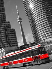Red Rocket (Jamie Hedworth) Tags: toronto public cntower ttc transport streetcar jamiehedworthphotography thetorontoexperiencecards