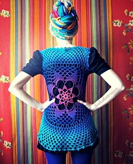 Tie-dye Effect Flower Mandala Vest - Pink To Teal (babukatorium) Tags: pink blue red summer orange flower green art wool thread fashion yellow dreadlocks circle star sweater rainbow purple handmade lace top turquoise teal burgundy oneofakind pastel crochet moda violet knit style mandala shade bow blonde gradient hippie ribbon vest knitted psychedelic dreads rasta cardigan bohemian doily multicolor shrug octagon waistcoat gilet whimsical bolero haken icord fakedreads häkeln emeraldgreen crochê ganchillo colete chaleco fuxia uncinetto yarnhair yarndreads かぎ針編み dreadextension coprispalle tığişi horgolt uvgreen wooldread woolrovingdreads babukatorium