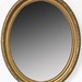 217. Vintage Oval Mirror with Gilt Frame