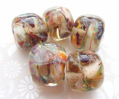 Old Fashioned Glamour Rocks (2) (Glittering Prize - Trudi) Tags: glass glitter beads glamour rocks handmade faceted nuggets trudi lampwork artisan shimmer goldstone gbuk