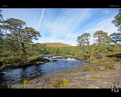 Flowing Away (tomraven) Tags: trees sky water pine clouds river flow scotland waterfall rocks sony sigma peat flowing loch alpha hdr glenaffric scots a77 lochaffric tomraven aravenimage blinkagain flickrstruereflection2 flickrstruereflectionlevel1 q42012