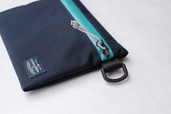 Flat Pouch Aqua 05 (Imagery Bags) Tags: zipper ykk waterresistant flatpouch drypouch