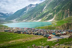 How many jeeps? (mushtaqjams) Tags: pakistan lake naran saifulmaluk