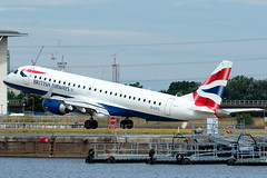 BA CityFlyer - Embraer ERJ-190SR - G-LCYL  London City Airport (paulstevenchalmers) Tags: londoncity london lcy airport