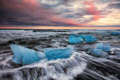 Diamonds In The Rough (~ Aaron Reed ~) Tags: iceland ice beach aaronreedphotography aaronreedphotographer aaronreedacrylicfacemountprints jkulsrln