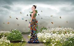 Atelier2 - Borboletas (Atelier 2) Tags: atelier2 mulher borboletas flores jardim ao ar livre cor pastel surreal plantas