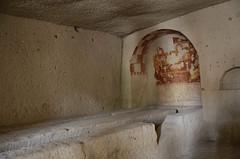 Shadows and Stone (Allison Mickel) Tags: nikon d7000 adobe lightroom edited cappadocia goreme tomb museum christianity painted turkey tourism