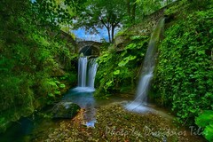 A small stone bridge and falls at Molyvdoskepasti H.D.R. OF 7 cpts (Dimitil) Tags: hepirus epire nature greece stonebridge fall water landscape hellas floweffect ~themagicofcolours~xi