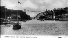Clifton Bridge from Ashton Meadows (Boxbrownie3) Tags: riveravon cliftonsuspensionbridge paddlesteamer campbells bristol pa