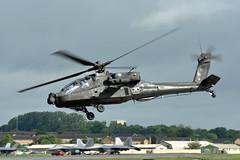Q-18 RNLAF Boeing Apache Fairford 11/7/16 (David K- IOM Pics) Tags: rnlaf royal netherlands air force boeing ah64 apache helicopter q18 ffd egva riat international tattoo departures