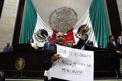IMG_4882 (Fotografa GP-PRD LXIII) Tags: cmara camaradediputados cmaradediputados lxiii lxiiilegislatura legislatura gpprd prd tomasoctaviano elidacasteln ayotzinapa protesta pleno