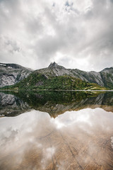 Ovrevatnet (dataichi) Tags: reflection symmetry mirror reflect lake clouds cloudy landscape outdoors nature travel tourism destination